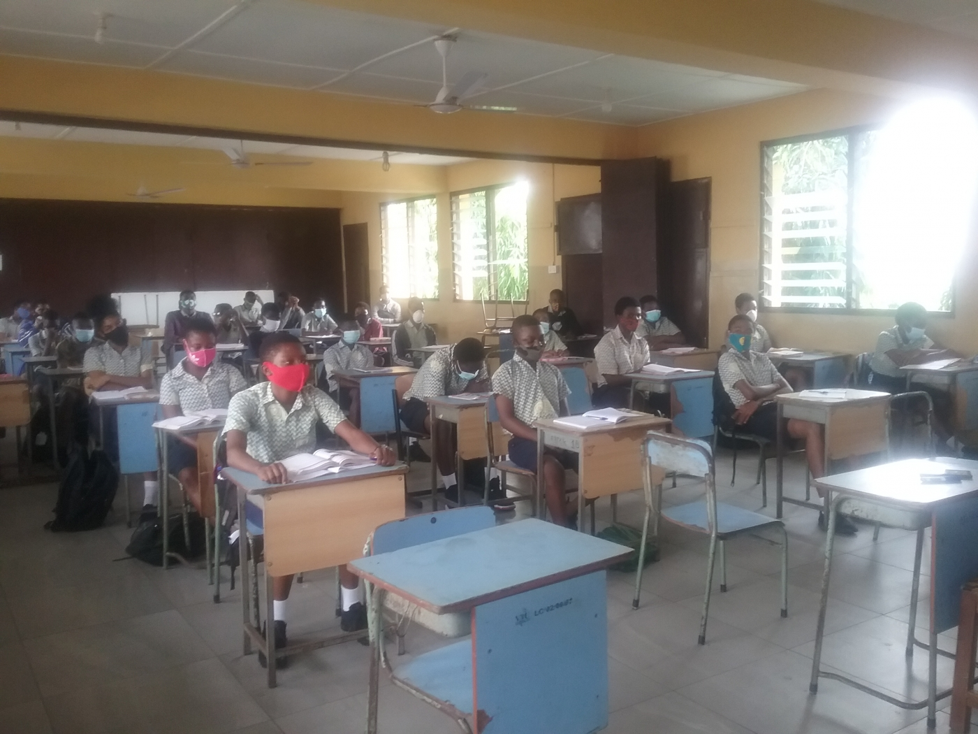 SCHOOLS ADHERE TO COVID-19 PROTOCOLS AS THEY REOPEN FOR BECE CANDITATES